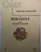 Onan N52M-GA019.9 Engine Dealer Parts Manual 32pg Welder Generator Sears Tractor
