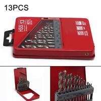 13PCS High Speed Hss Cobalt+Case For Metal Plastic Wood Hammer Drill Bit Set UK