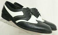 Giorgio Brutini LX646191 Black Perforated Wingtip Dress Oxfords Men's US 10 D