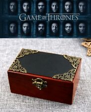 Vintage Rectangle Black Cover Music Box ♫ Game Of Thrones - Winter Is Coming ♫