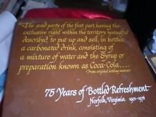 RARE COCA COLA BOTTLING CO.NORFOLK, VIRGINIA 75th ANNIVERSARY BOX SET 1901-1967