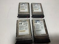 "Lot of 4 HP EH0146FAWJB 146GB,Internal,15000RPM,2.5"" 15K  HDD 6G SAS Hard Drives"