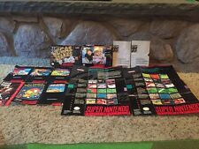 SNES Super Nintendo Manual And Box Lot PRICE REDUCED!