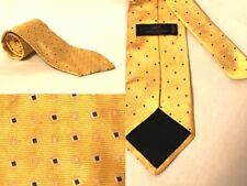 Brooks Brothers 346 Silk Tie Yellow Blue White Geometric Design Formal Suit 59L