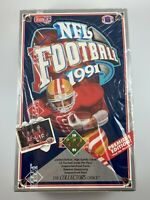 1991 NFL Football Premiere Edition Upper Deck factory sealed box with 36 packs