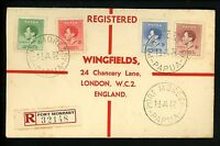Postal History Papua New Guinea Sc #118-121 Registered Not FDC 7/14/1937 Moresby