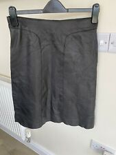 Whistles Leather A-Line Skirt Size 8