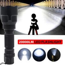 TORCIA TATTICA MILITARE LED CREE XM-L T6 20000LM BICI ZOOM LUCE RICARICABILE LED