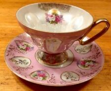 ANTIQUE VINTAGE PORCELAIN TEA CUP AND SAUCER MADE IN JAPAN