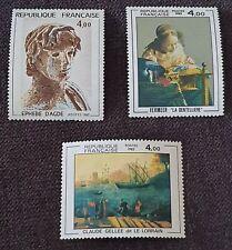 Lot 3 Timbres Neufs Artistique - Année 1982