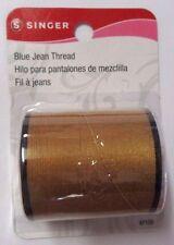 ***Singer Blue Jean Thread 100 Yards - Polyester - Old Gold 075691671204 # 67120