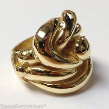 "HUGE HEAVY 45g MENS BIG CELTIC KNOT RING 9CT GOLD ON JEWELLERS BRONZE ""SIZE Z+4"