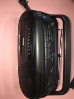 RCA Radio Boombox RP-7700A AM/FM Portable Cassette Player/Recorder/Music