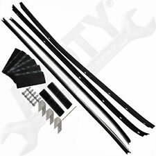 APDTY 134004 Door Window Glass Rubber Weatherstrip Set With Installation Kit