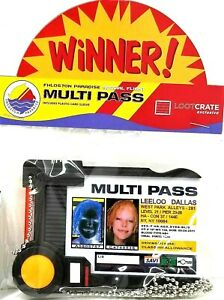 Fifth Element Leeloo Dallas Multi Pass Multipass prop replica ID Badge holder