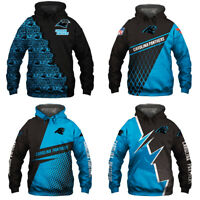 Carolina Panthers Hoodie 3D Print Sweatshirt Football Hooded Pullover Jacket Top