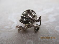 Sterling Silver Brooch Pin 925 Cowgirl Angel Marked 925 Jewelry Vintage