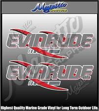 EVINRUDE - 430mm x 145mm X 2 - OUTBOARD DECALS