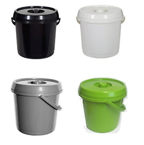 Plastic Nappy Bucket With Lid 14L 3 Gallons Baby Home Pails Bin Tidy Container