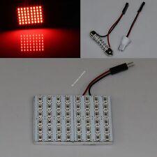 Red Car 48 SMD 5630 LED panel Light Dome Interior Bulb T10 Festoon Spring 12V