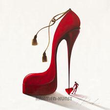 Inna Panasenko: Conquistatore passionate Fertig-Bild 30x30 Wandbild Schuh Heel