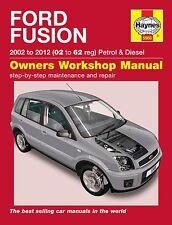 Ford Fusion 1.4 1.6 Gasolina & 1.4 Tdci 1.6 Tdci Diesel 2002-2011 Haynes Manual 5566