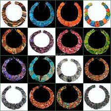 "Large ladder shaped gemstone pendant graduated beads set For necklace design 13"""