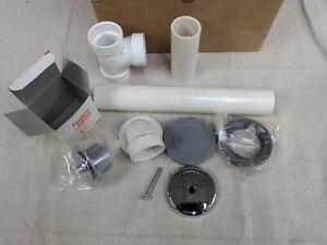 Rapid Fit TS-12 Bath Waste Sch. 40 R-0373 1-Hole Plate, Chrome, PVC