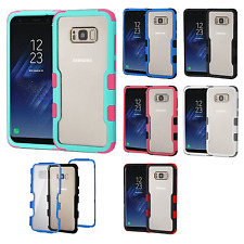 For Samsung Galaxy S8 / S8 PLUS IMPACT TUFF HYBRID Case Skin Cover +Screen Guard