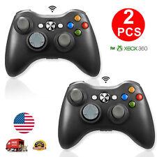 2x Remote Wireless Game Controller For Microsoft XBOX 360 PC WIN 7 8 10 Black US