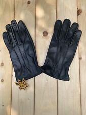 Men Driving Black leather Gloves Size Large