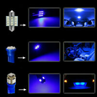 13x LED Light Interior Package Kit Super Blue For Dome License Plate Lamp Bulbs