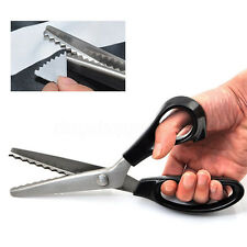 Pro Stainless Dressmaking Tailor Shears Zig Zag Pinking Sewing Cut Scissors New