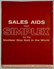 Simplex Go Kart 1960 dealers folder of Sales Aids Catalogs Ads Order Blanks
