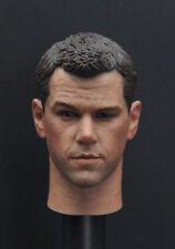 Custom 1/6 Matt Damon head sculpt The Martian for Hot toys narrow Body