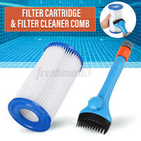 Swimming Pool Spa Tub Cleaner Filter Cartridge and Filter Cleaner Brush