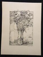 Rudolf Wernitz, Strauß mit Schmetterlingen, Lithographie, 1979, handsigniert