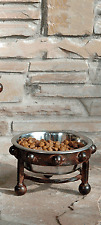 small  raised bowl for small  pet dog stainless steel  bowl. Wrought iron New