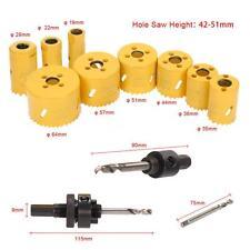 13pcs 19-64mm M42 HSS Bi-metal Hole Saw Kit Pilot Drill Set for Carpenter E4M1