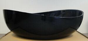 B-Ware 274828330122 Freistehende Badewanne Wave Acryl Schwarz - 180x110x62cm