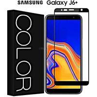 PELLICOLA VETRO TEMPERATO per Samsung Galaxy J6+ Plus CURVO 5D COPERTURA TOTALE