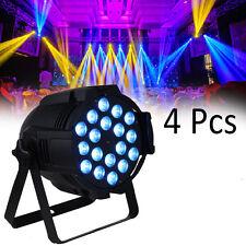 4X DJ PAR 64 LED LIGHT 18x 8w RGBW 4in1 DMX 160 watt Stage Party Show Disco Pub