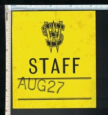 Steve Winwood 1988 'Roll With It' Staff Backstage Pass Sticker; Dated, unused