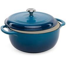 New listing 6qt Non-Stick Enamel Cast-Iron Dutch Oven Kitchen Cookware w/ Side Handles