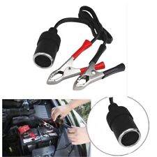 12V 30A Car Cigarette Lighter Socket To Car Battery Alligator Clip Power Supply~
