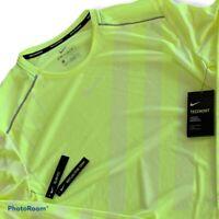 Nike Techknit Cool Men's Running Long Sleeve Shirt BV5392 702 Size Large L