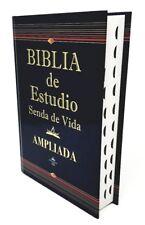 BIBLIA DE ESTUDIO SENDA DE VIDA AMPLIADA REINA VALERA 1960 LETRA GRANDE E INDICE