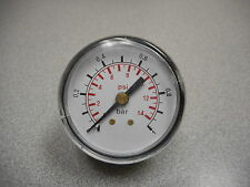 GAUGE DUAL SCALE 0-1 BAR MAX 14 PSI 0-14 PSI DAIL FACE APPROX 1-3/4IN