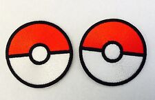 Pokemon Game PokeBall Pokemon Go ! 2 For 1 Deal Quality Iron On Patch Badge