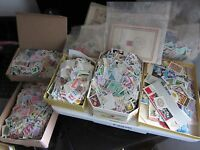 500 PCS LOT OF USED WORLD STAMPS OFF PAPER - FREE SHIPPING FROM HUNGARY